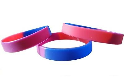 Bisexual Pride Silicon Rubber Wristband