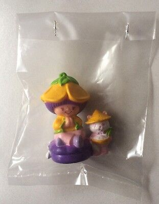 STRAWBERRY SHORTCAKE PVC MINI NEW BAGGIE : ALMOND TEA w/ MARZA PANDA RARE 1984