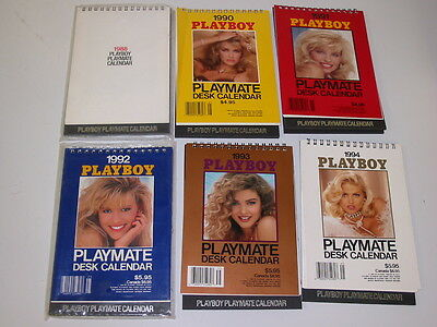 Playboy Playmate Desk Calendar Lot of 6~1988 1990 1991 1992 1993 1994