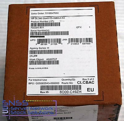NEW SELAED HPE Intel Xeon E5 2680V3 12 Core 2.5GHz 30MB Processor kit 755394-b21