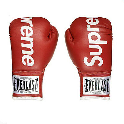 Supreme boxing gloves BOX EVERLAST BOXING boxing gloves Black Red high quality