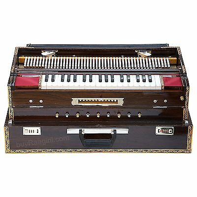 Lovely Design Super Deluxe Harmonium (Portable) consists of 2 sets of steel reed