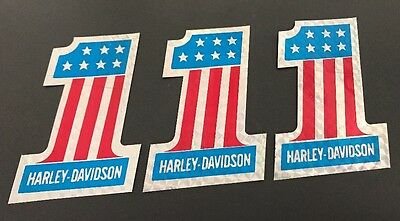 NEW Vintage Harley Davidson #1 Stickers Decals - Lot of 3 motorcycle chopper