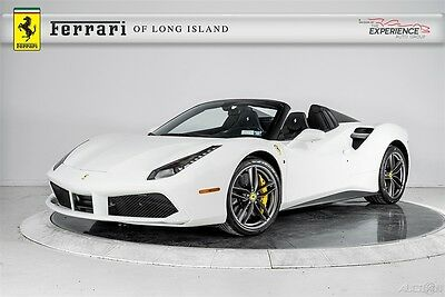 2016 Ferrari Other 488 Spider Two-Tone Carbon Fiber Racing Titanium Exhaust Shields Sport Sill Forged Stitched