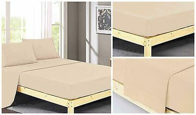 1500 Thread Count 100% Egyptian Cotton 4 Piece Bed Sheet Set King Ivory