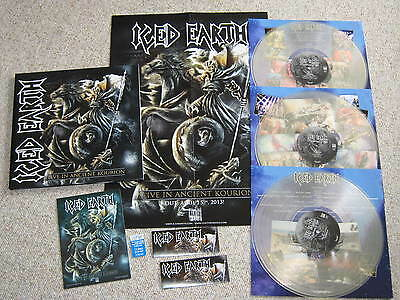 ICED EARTH- Live In Ancient Kourion/ LTD 100 CLEAR Vinyl LP PROMO/ INCORRUPTIBLE