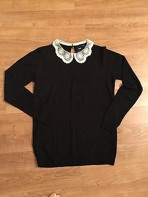 As New Excellent Condition ASOS Maternity Top Lace Collar Comfortable Elegant