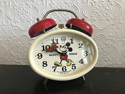 Rare Disney Mickey Mouse Wind-up Alarm Clock -German Made
