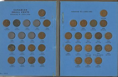 1920-1972 Canada Cent Collection, Set needs 6 to complete