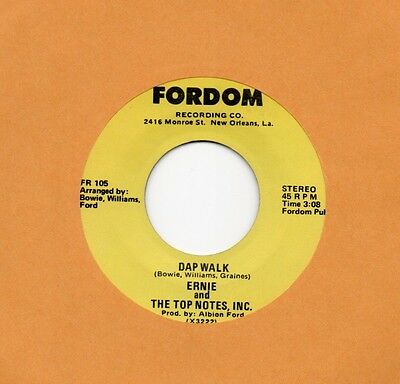 "rare Killer Funk (Hear!) ERNIE AND THE TOP NOTES, INC. ""Dap Walk"" Fordom"