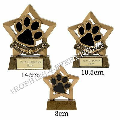 *Paw Trophy Cat Dog Agility Obedience Showing ,Dog Club  3 Sizes FREE ENGRAVING