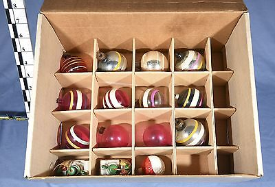 Large Collection of Vintage Christmas Ornaments-30 Assort. Glass, Plastic & more