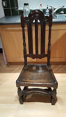 Late 17th Century High Back Hall Chair