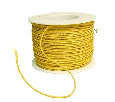 Paper cord yellow 2mm x 100m Wire Craft cord Paper ribbon craft cord