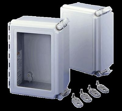 Hoffman Type 4X Enclosure w/Solid Cover/QR A1086CHQRFG