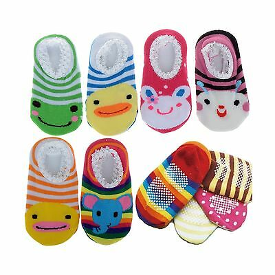 Cren 5 Pairs Baby Girls Toddler Anti Slip Skid Socks For 0-12 Months Length 3...
