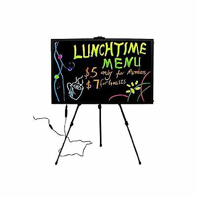 "28""x20"" Flashing Illuminated Erasable Neon LED Writing Board Menu Sign - NEW"