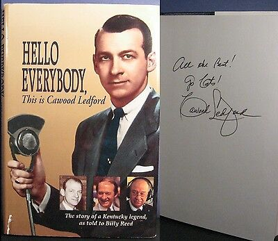 Cawood Ledford Signed Hello Everybody Book Kentucky Wildcats - PSA/DNA Grnt Auto