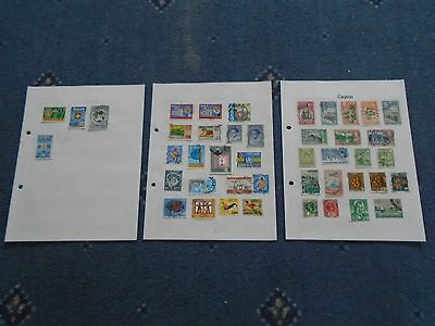 collection of stamps Ceylon hinged on album pages (a)