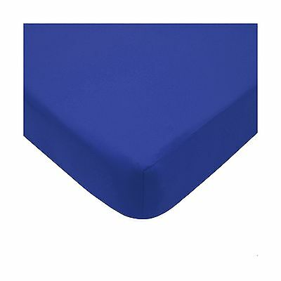 American Baby Company 100% Cotton Percale Fitted Crib Sheet Royal