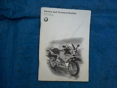 BMW R1100S service and technical booklet