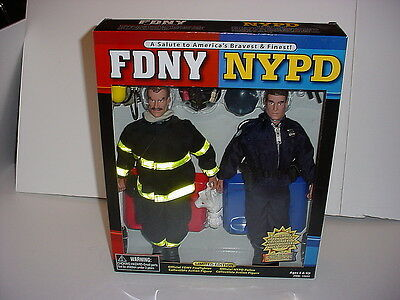 FDNY Firefighter- NYPD Police Action Figure Dolls - America's Bravest and Finest