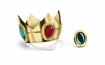 Super Mario Brothers Princess Peach Crown & Amulet One Color No Size