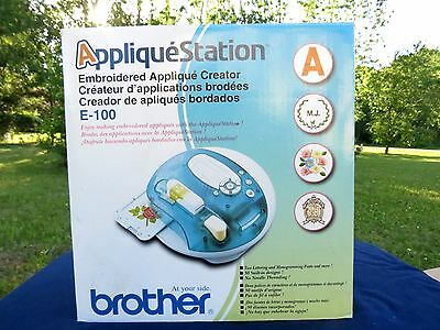 Brand New  Sewing Brother Applique Station E100 Computerized Embroidery Machine