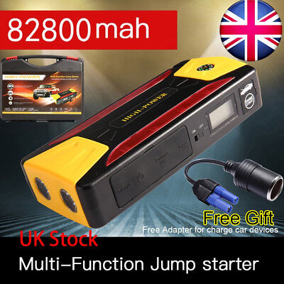 82800mAh Pack Car Jump Starter Emergency Charger Booster Power Bank Battery 12V
