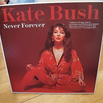 Kate Bush ‎Never Forever For Ever box cd poster book postcard t-shirt Very rare!
