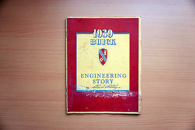 1939 Buick Engineering Story / Rare Internal Book /Illustrations/ Specifications