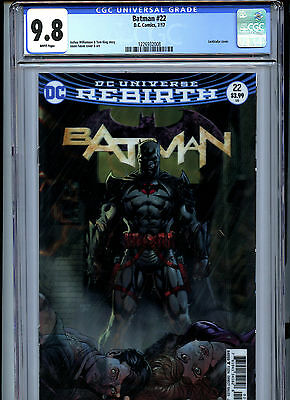 Batman #22 (2017) DC CGC 9.8 White Pages Lenticular Cover