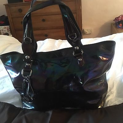 Genuine Gucci Vintage Patent Leather Tote Bag