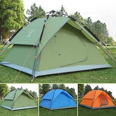 Camping Dome Tent 3-4 Person Automatic Double Layer Travel Hiking Shelter Canopy