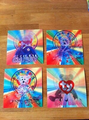 10 Ty Beanie Babies - collectot's cards - Hologram x