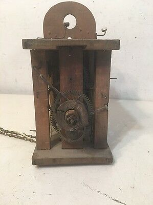 Antique Wag On The Wall Or Tall Case Clock Movement Black Forest German Wood