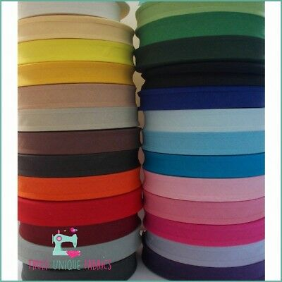 """25mm 1"""" WIDE 100% Cotton Bias Binding / 30 Colours SEWING QUILTING SALE 20% OFF!"""