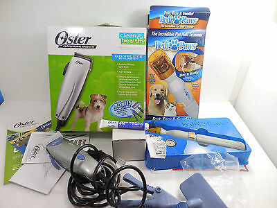 Oster Animal Grooming Styling Kit Clippers Dog Pet Pedi Paws Nail Trimmer Lot