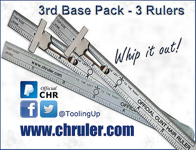 Official C*nt Hair Ruler - 3rd Base Pack - Great Tool for any Contractor!