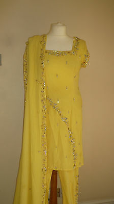 yellow 8-10 bollywood  CLEARANCE SALE salwar kameez sari lengha PY13201