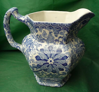 Lovely Large Vintage Woods & Sons Chung Blue & White Jug Display Flowers