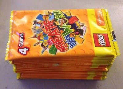 120 x Sainsburys Lego CREATE THE WORLD cards 30 packs 100% Seller