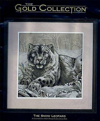 The Snow Leopard Counted Cross-Stitch Kit - June Payne Hart - Dimensions Gold