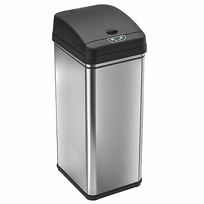Deodorizer Automatic Sensor Touchless Trash Can 49 Liter / 13 Gallon S. Steel
