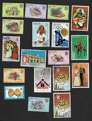 (111cents) Belize Small Collection of used stamp x17