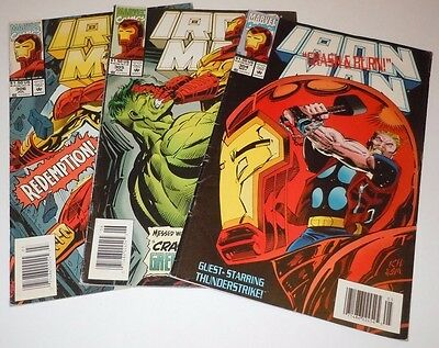 Iron Man 304 305 306 Comic LOT Marvel 1st Appearance First Hulkbuster NEWSSTAND