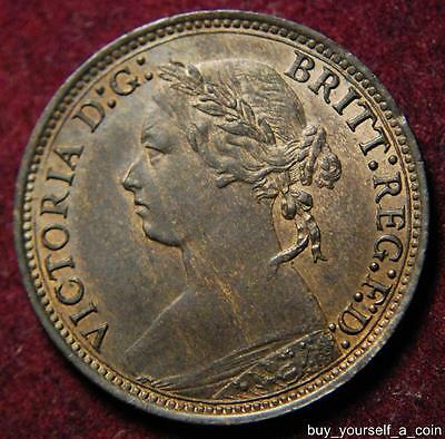 GB Queen Victoria bronze farthing 1878 - high grade