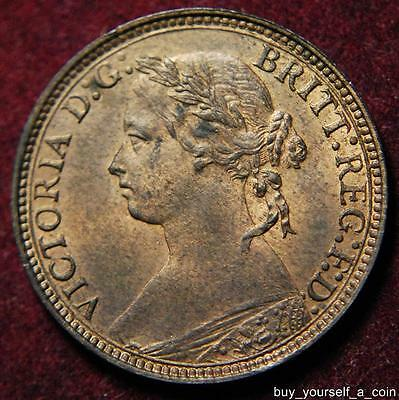 GB Queen Victoria bronze farthing 1875 H - high grade