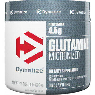 Dymatize GLUTAMINE Micronized Muscle Recovery New Flavors - 1.1lbs / 500g -