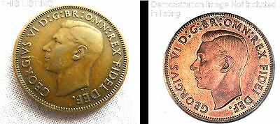George VI Half Penny MULE Coin, 1937 - 1952 Minting Error,Rare Coin FREE Postage